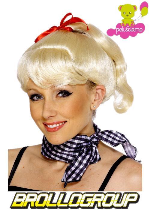 Accessorio Costume Carnevale Parrucca Donna Sandy Grease Bionda *10249 Smiffys - _10249p