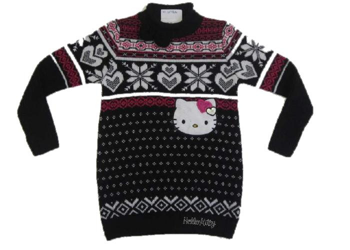 Miniabito bimba hello kitty junior maglioncino