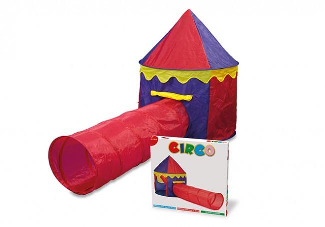 Gioco per bambini tenda circo con tunnel interno esterno