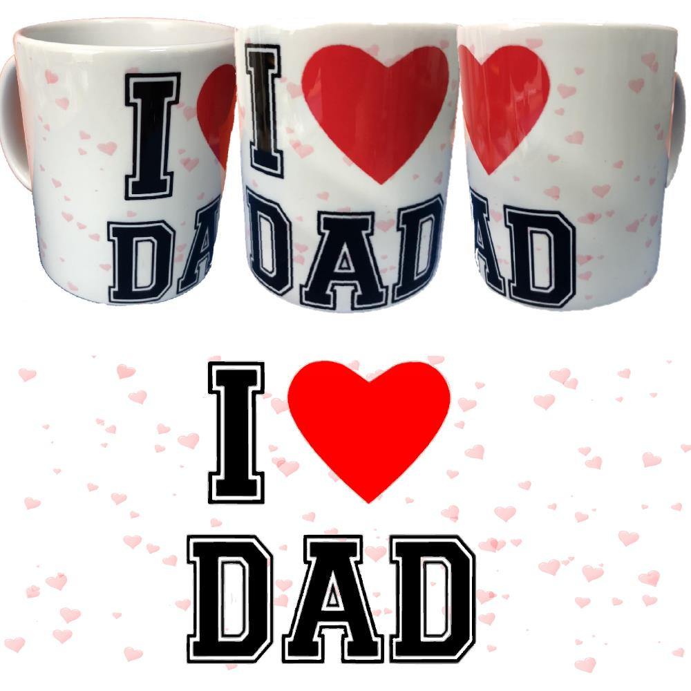 Tazza I Love Dad Tazze In Ceramica Festa Del Papa' PS 09370-13