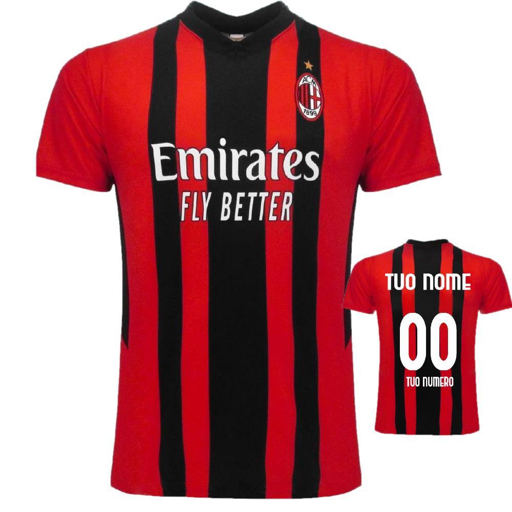 Maglia Milan Personalizzata Maglietta AC Milan Maglie Calcio Replica 2022 PS 40482