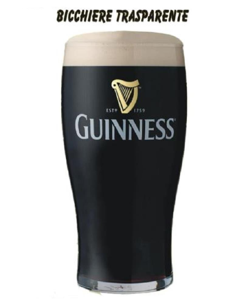 Bicchiere Guinness Beer 1 pinta birra Logo classico stampato PS 11419