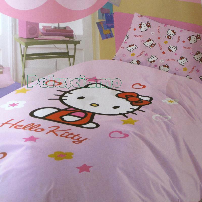 Completo letto singolo hello kitty bed set