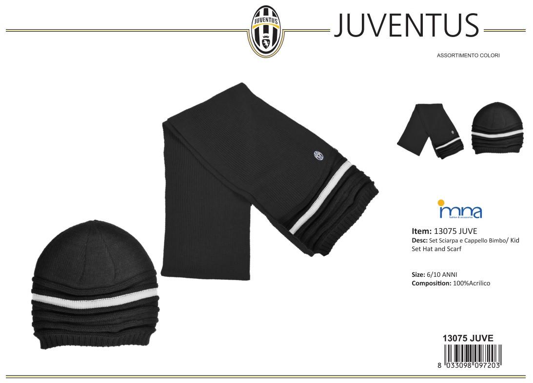 Sciarpa + Cappello bimbo Juventus calcio  e2c88ee3b643