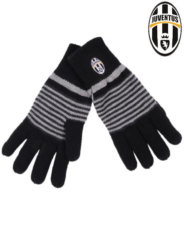Guanti a righe Juventus F.C. Accessori squadre calcio Juve  01030 ... 9b58cc56eba5