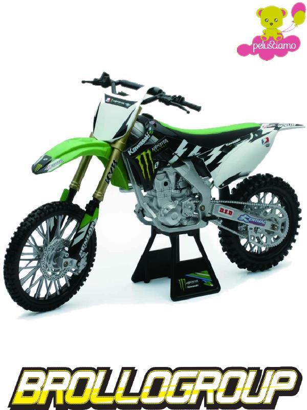 modellini newray 1 12 motocross usa kawasaki kx450f. Black Bedroom Furniture Sets. Home Design Ideas