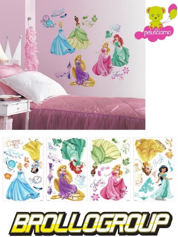 Adesivi Murali Principesse Disney.Adesivi Da Parete Principesse 37 Pz 18178 Sticker Disney Arredo Cameretta Bimba