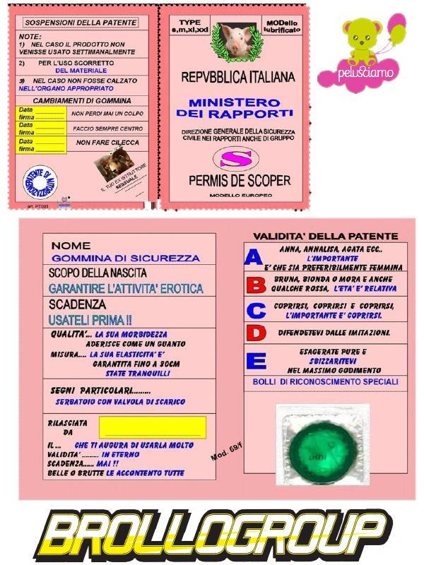 Top Neopatentato Lui Lei, Biglietto Scherzo | Pelusciamo.com FS38