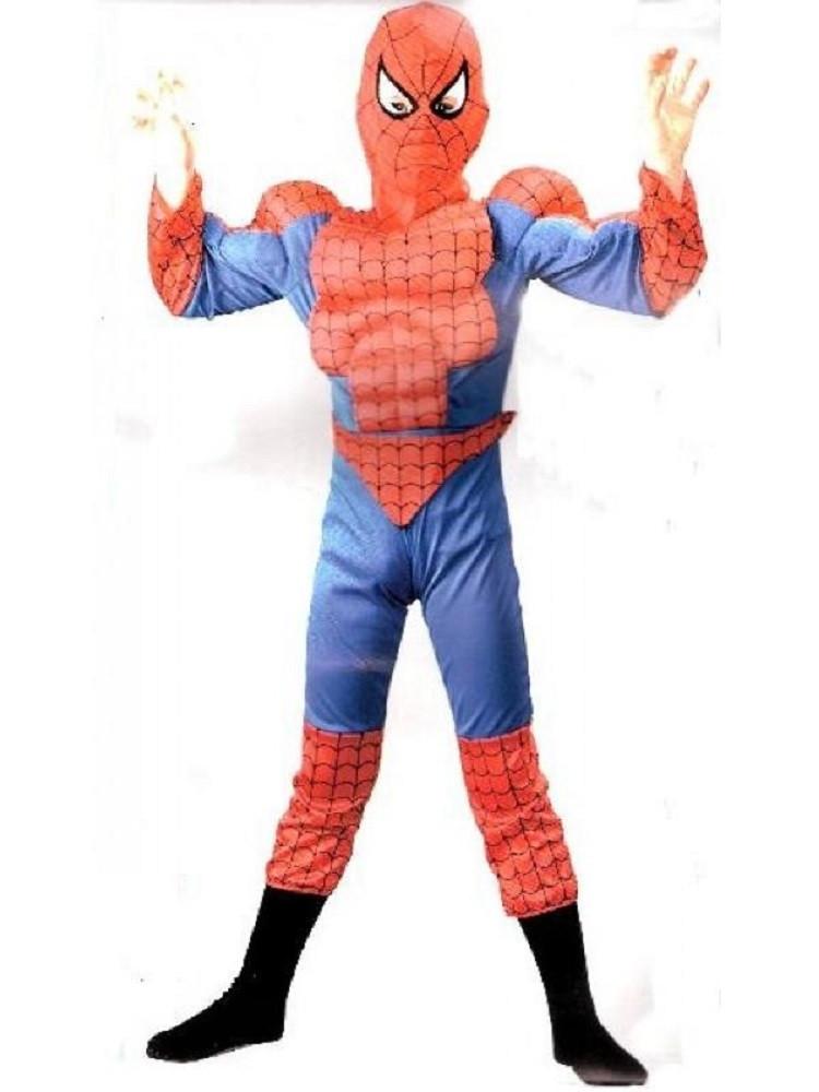 abbigliamento sportivo ad alte prestazioni top design colori e suggestivi Costume carnevale Bambino uomo ragno con Muscoli *01612