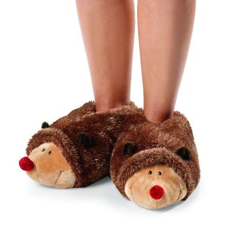 Moppine pantofole peluche nici bimbo riccio babyschuhe for Pantofole natalizie