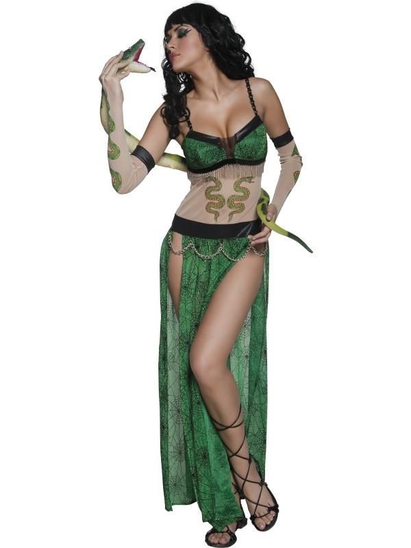 Costume carnevale donna Halloween Donna Serpente smiffys  17111 ... 4579dfda6b0