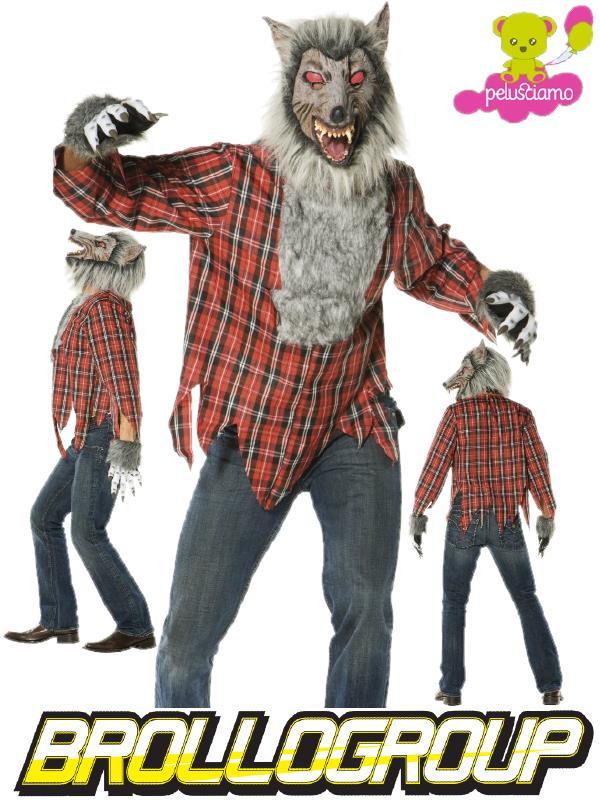 774c8b79f7ee Costume Halloween Carnevale Adulto Animale Lupo Mannaro Licantropo ...