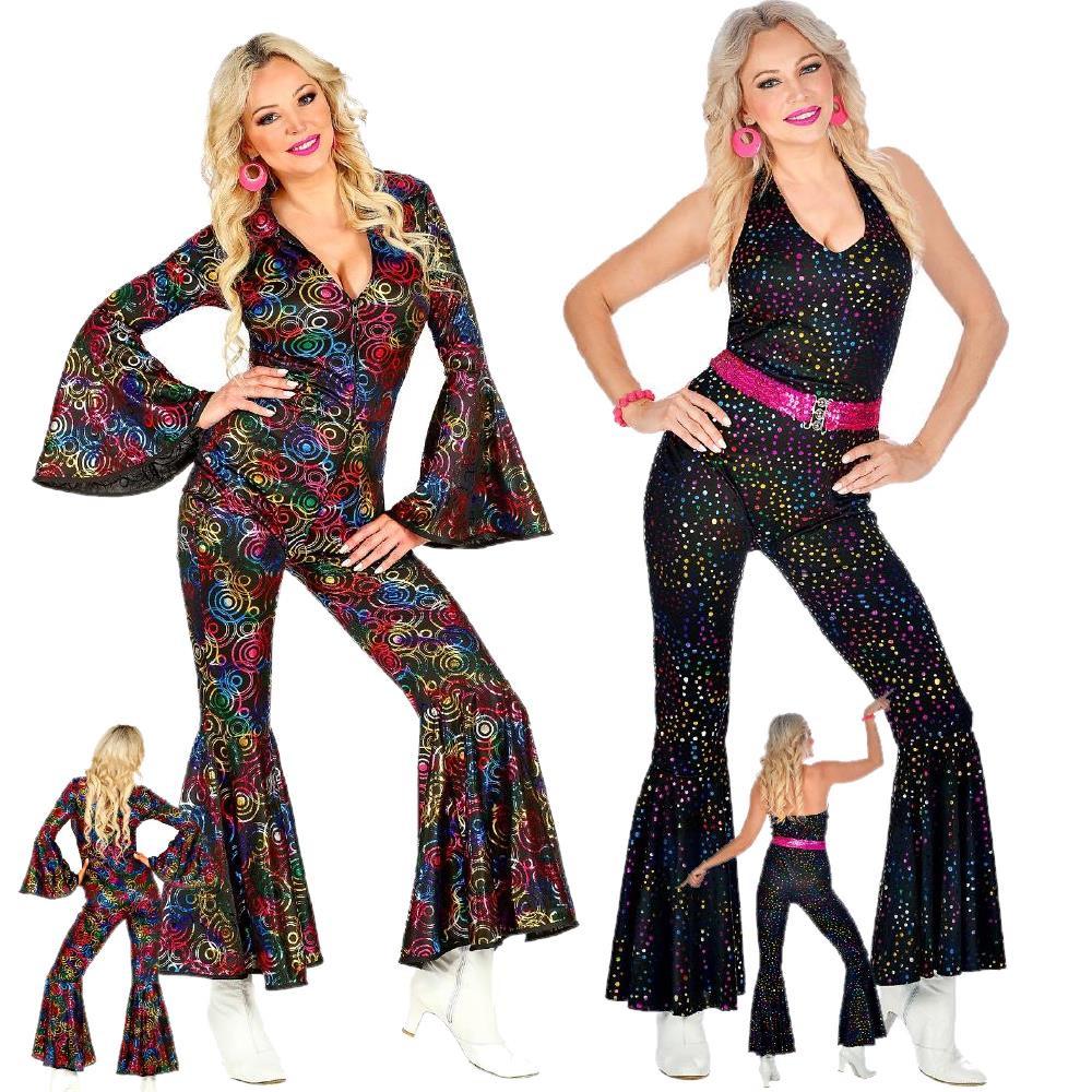 Adulto/'s anni 1970 Discoteca Tuta Costume Donna Anni 1970 Costume