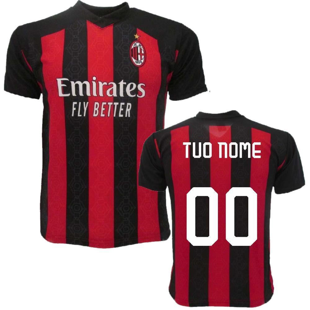 Maglia Milan Personalizzata Maglietta AC Milan Maglie Calcio Replica 2021 PS 39487