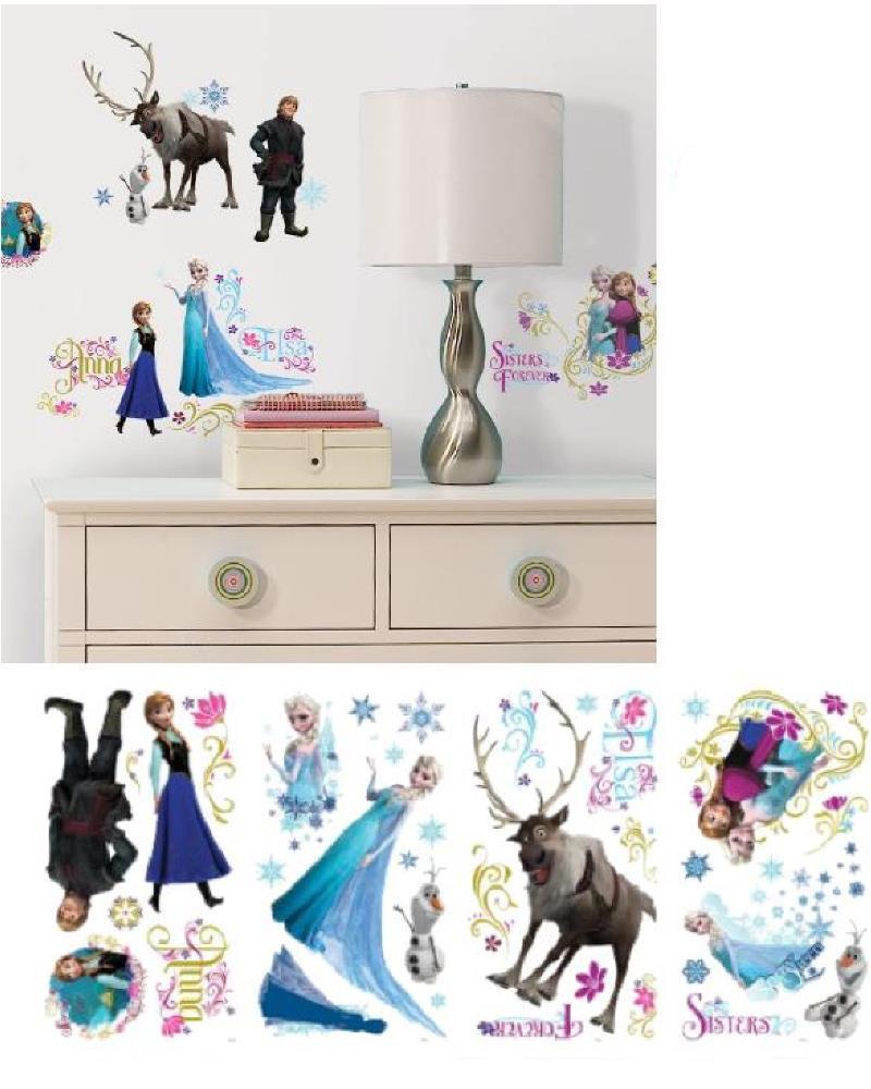 Adesivi da parete frozen 36 pz sticker disney arredo - Decorazione parete cameretta ...