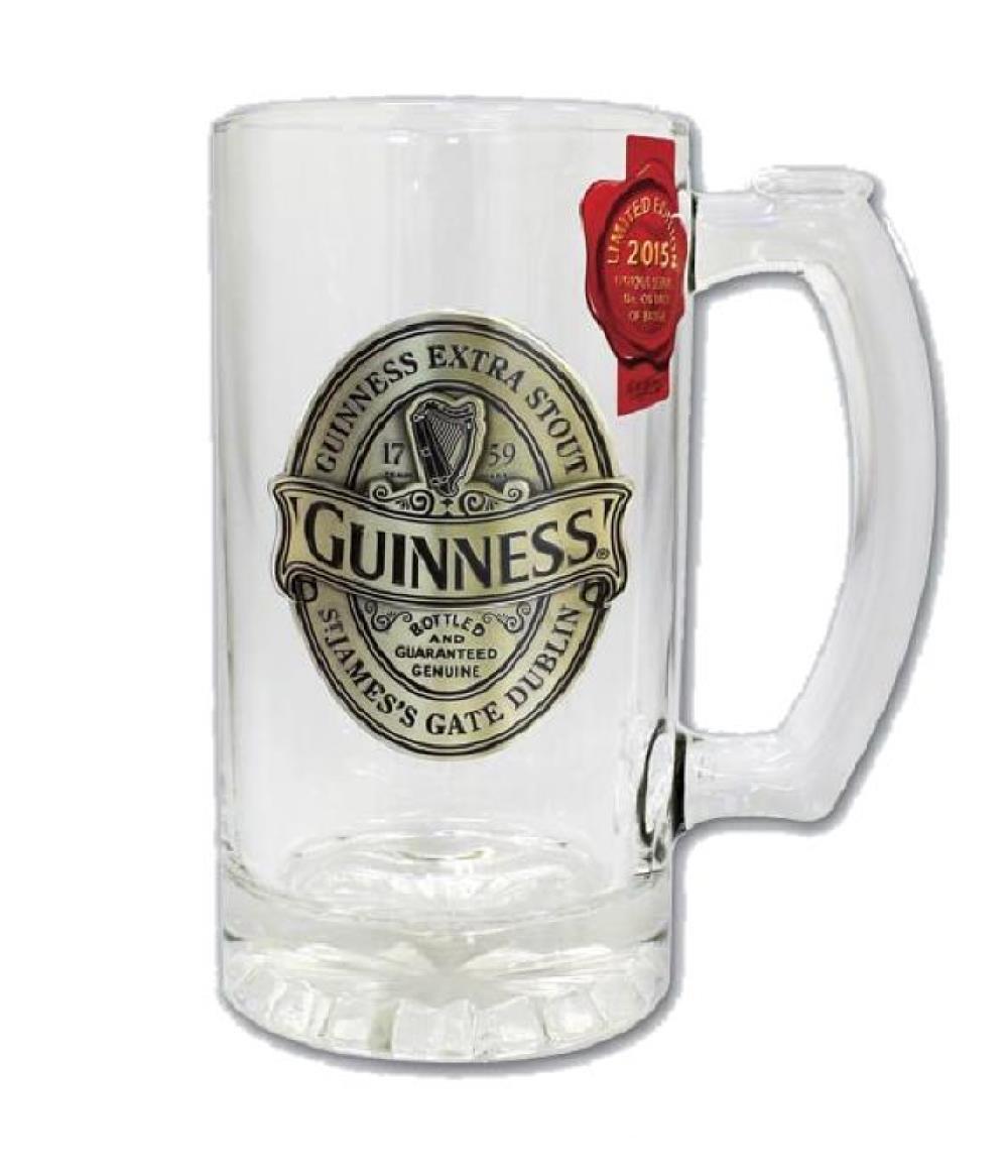 boccale birra logo vetro guinness beer edizione 2015