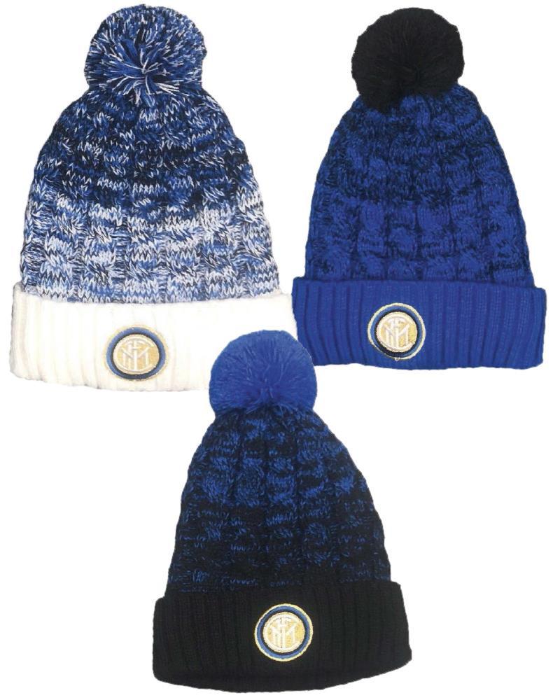Cappello Ponpon Inter Abbigliamento Invernale Ufficiale FC Internazionale  PS 28491 pelusciamo store 90ef60d35dbb