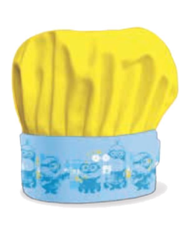 Cappellino da chef bambino minions misura regolabile