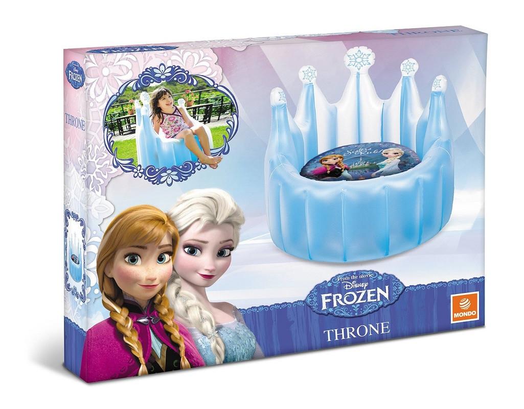 Poltrona Gonfiabile Disney.Poltrona Gonfiabile Trono Frozen Disney 62x62x82 Cm 01444
