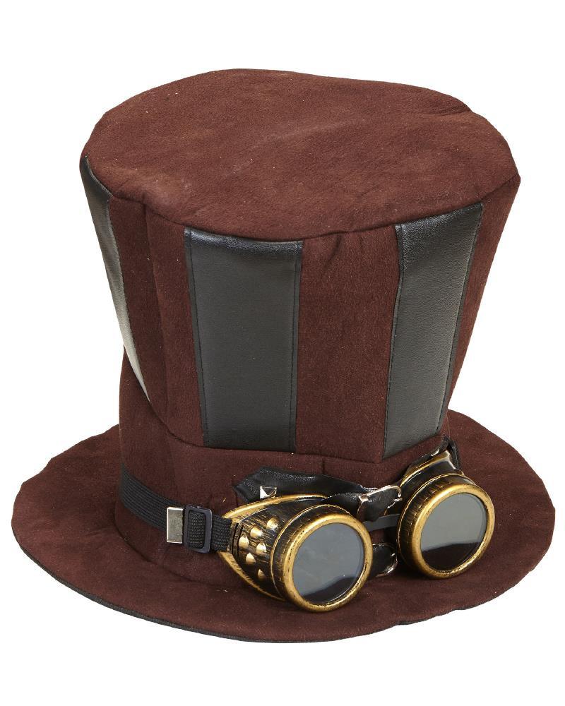 Cilindro Steampunk con Occhiali Accessori Costume Carnevale PS 26421  Pelusciamo Store Marchirolo 8fd0a27f5b0a