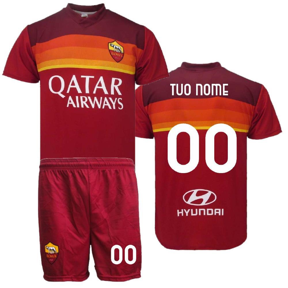 Completo Calcio As Roma Personalizzato Replica Ufficiale 2021 PS 40149 Adulto Bambino