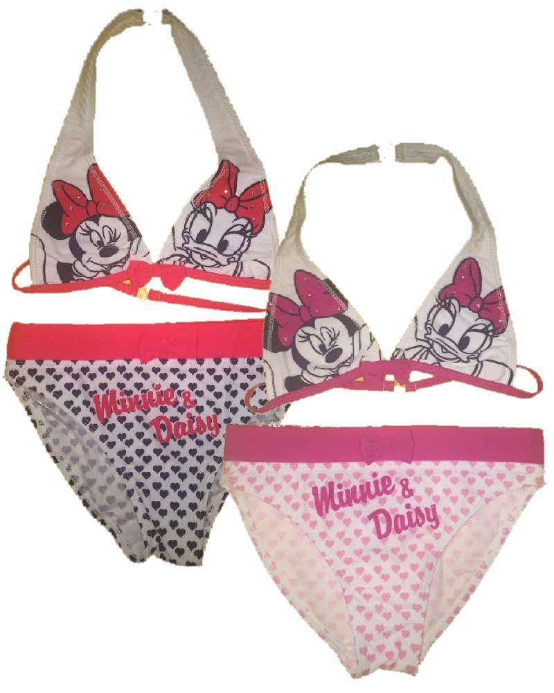costume da bagno bikini bimba minnie e paperina 23704 disney piscina mare pelusciamo store