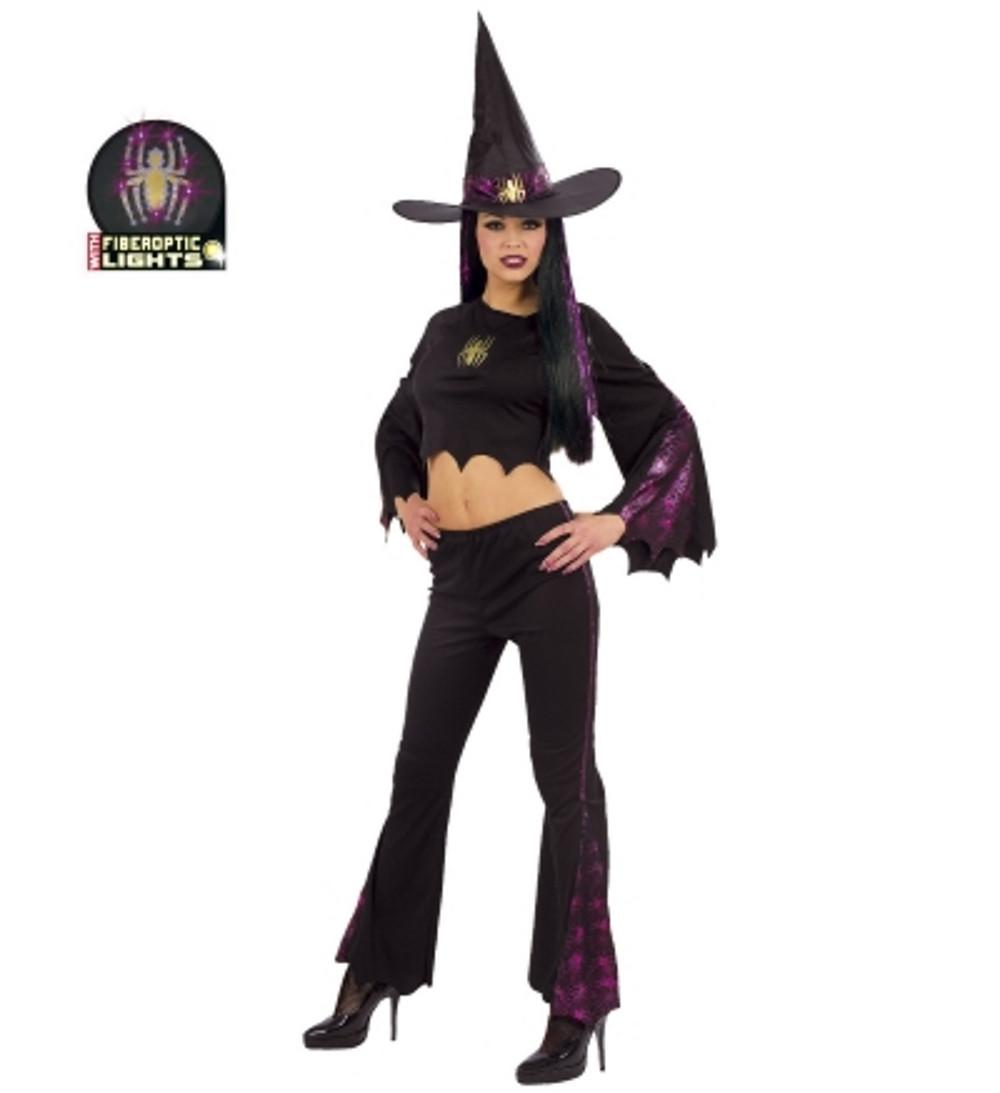 Vestiti Halloween Strega.Costume Halloween Donna Vestito Strega Luminoso Ps 25627