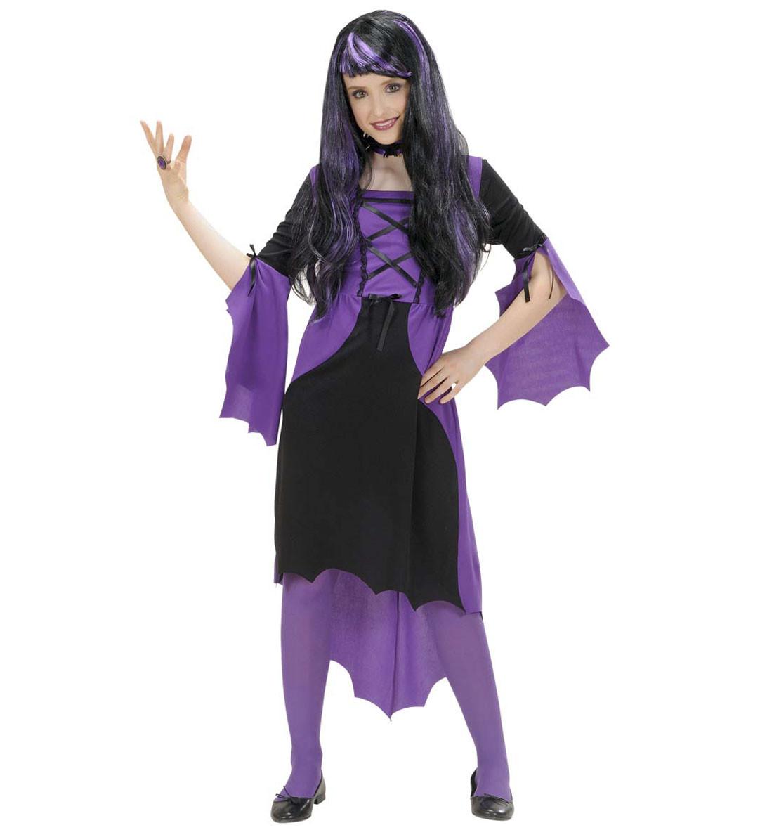 Costume Bambina Halloween Vestito Vampira Ragazza PS 22042