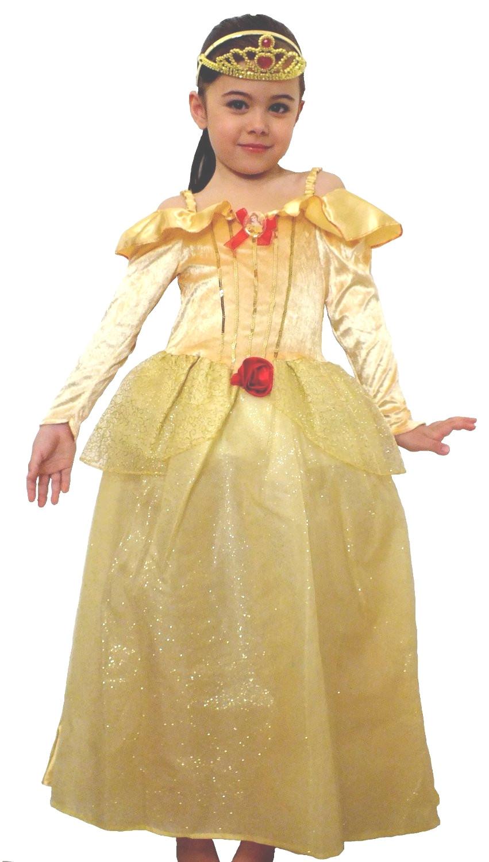 Feicuan Donna Principessa Belle Costumi Fancy Dress Up Carnevale Halloween Party Giallo Queen