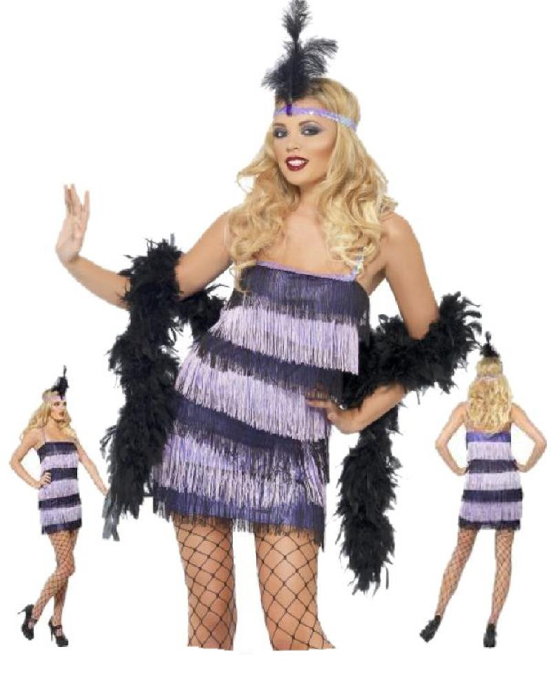 Costume carnevale donna jazz flapper charleston anni 20 - Costume da bagno anni 30 ...