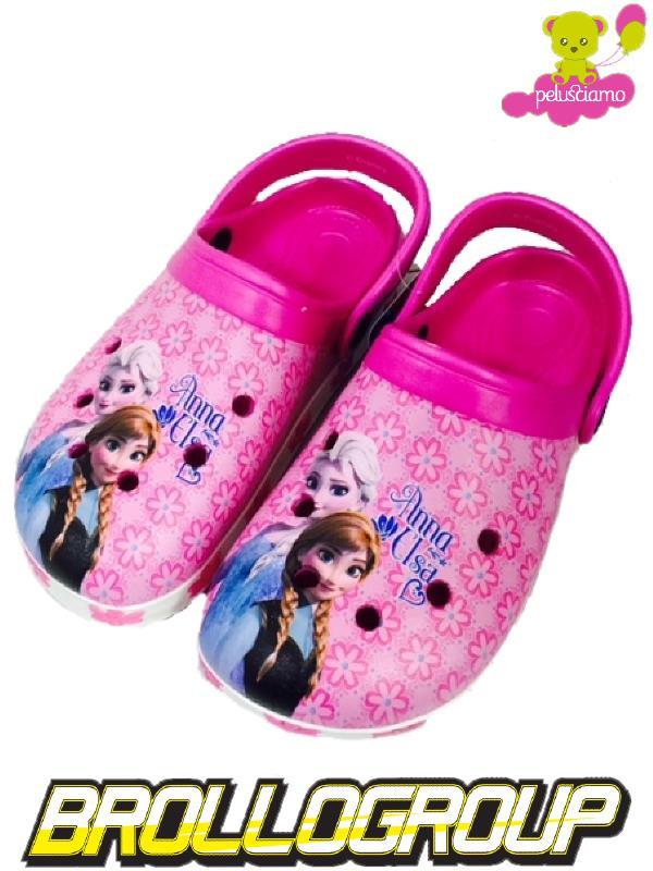 Anna Elsa Bimba Crocs Tipo Ciabatte Frozen Disney20559 H92IED