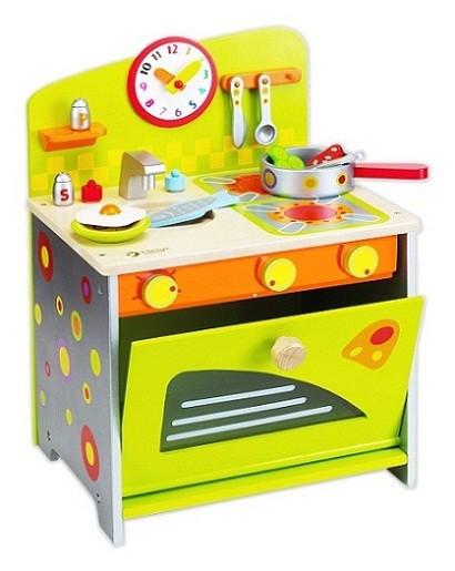 Gioco legno cucina con accessori per bambina for Accessori per cucina in legno