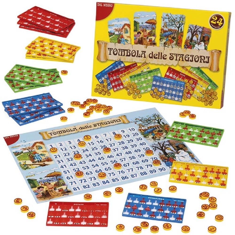 Tombola delle stagioni 24 cartelle giochi da tavolo ps 07331 pelusciamo store - Tombola gioco da tavolo ...