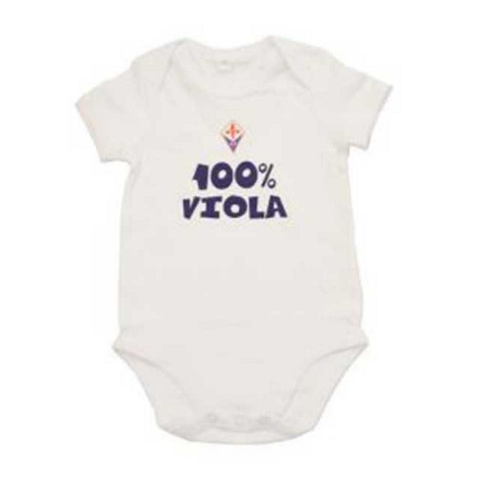 Body Neonato in Cotone Fiorentina 100% Viola PS 31870 Abbigliamento Personalizzabile