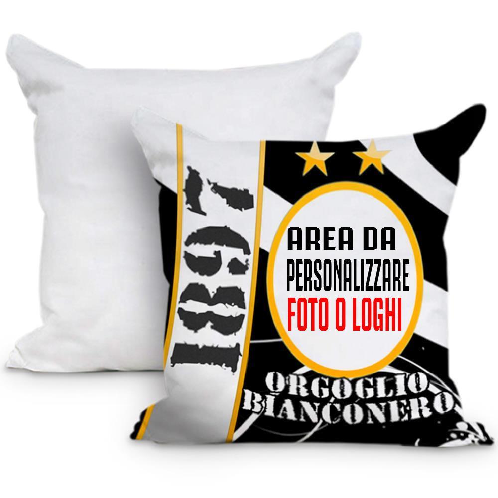 Cuscino Tifoso orgoglio Beanconero 40x40 cm Personalizzabile Foto o Frasi PS 10597 Gadget Personalizzato