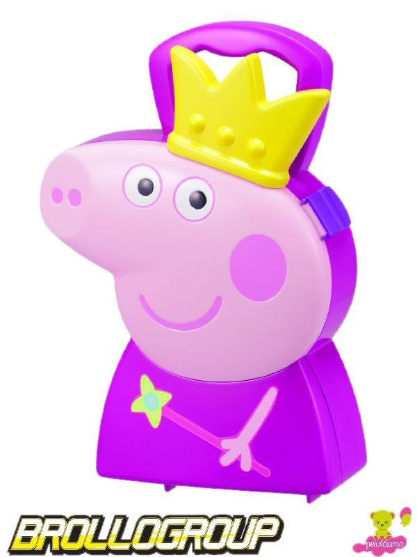 Gioco peppa pig valigetta principessa corona e gioielli