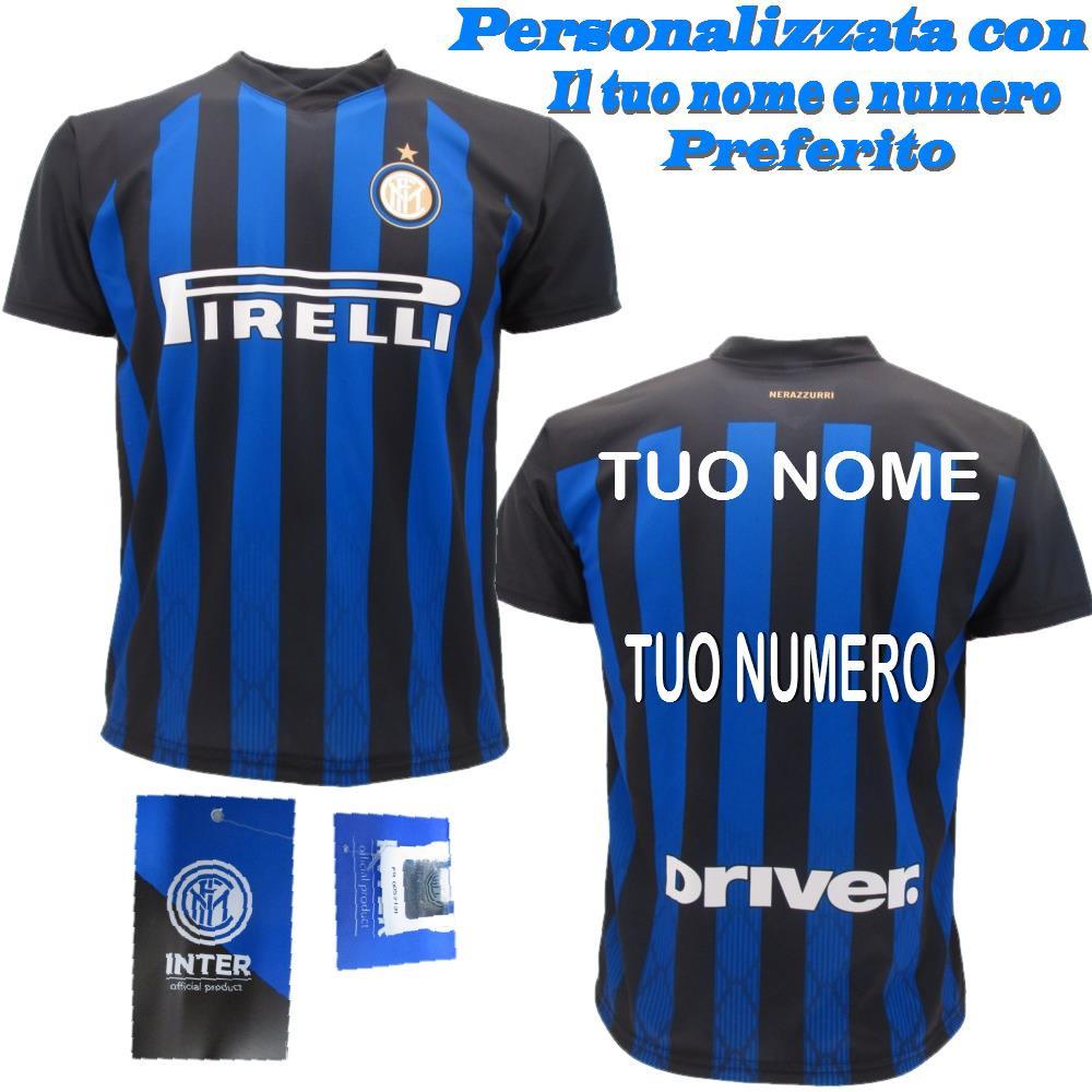 Maglia Inter Personalizzata Maglietta F.C. Internazionale Replica 2018 2019 PS 27411