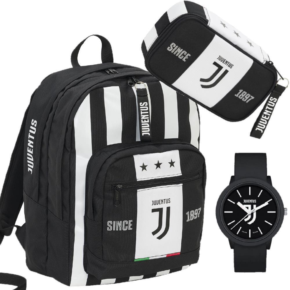selezione migliore ef6fd 64120 Juventus JJ Zaino Scuola + Astuccio e Orologio Calcio Juve PS 13032