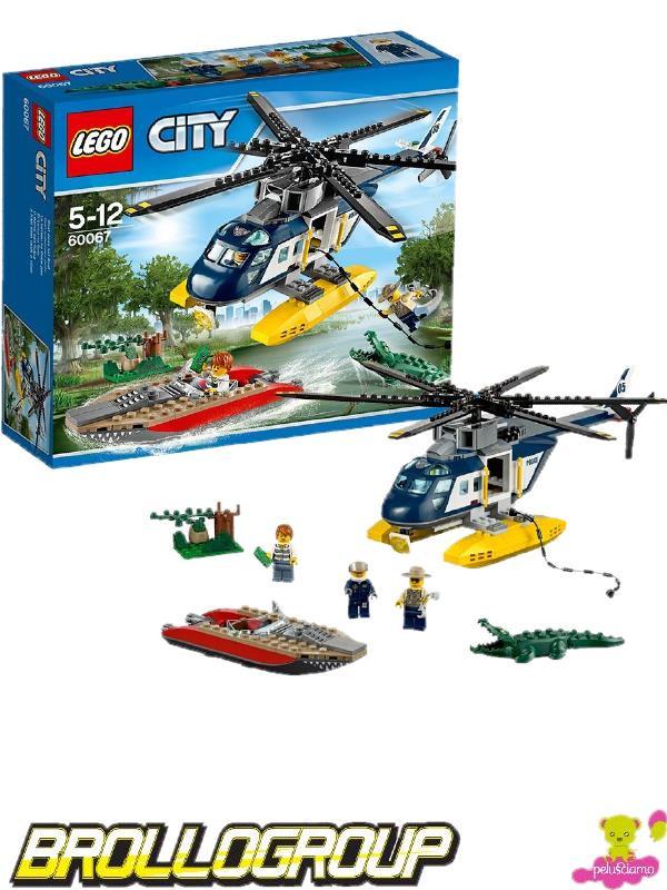 Elicottero Lego City : Lego city police inseguimento sull elicottero