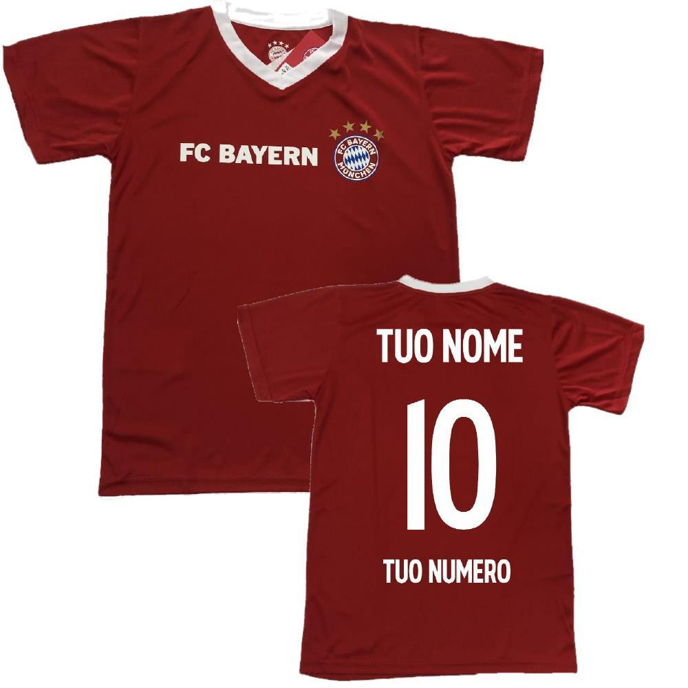 Maglia Calcio Bayern Munchen F.C. Replica Ufficiale Personalizzabile PS 32009