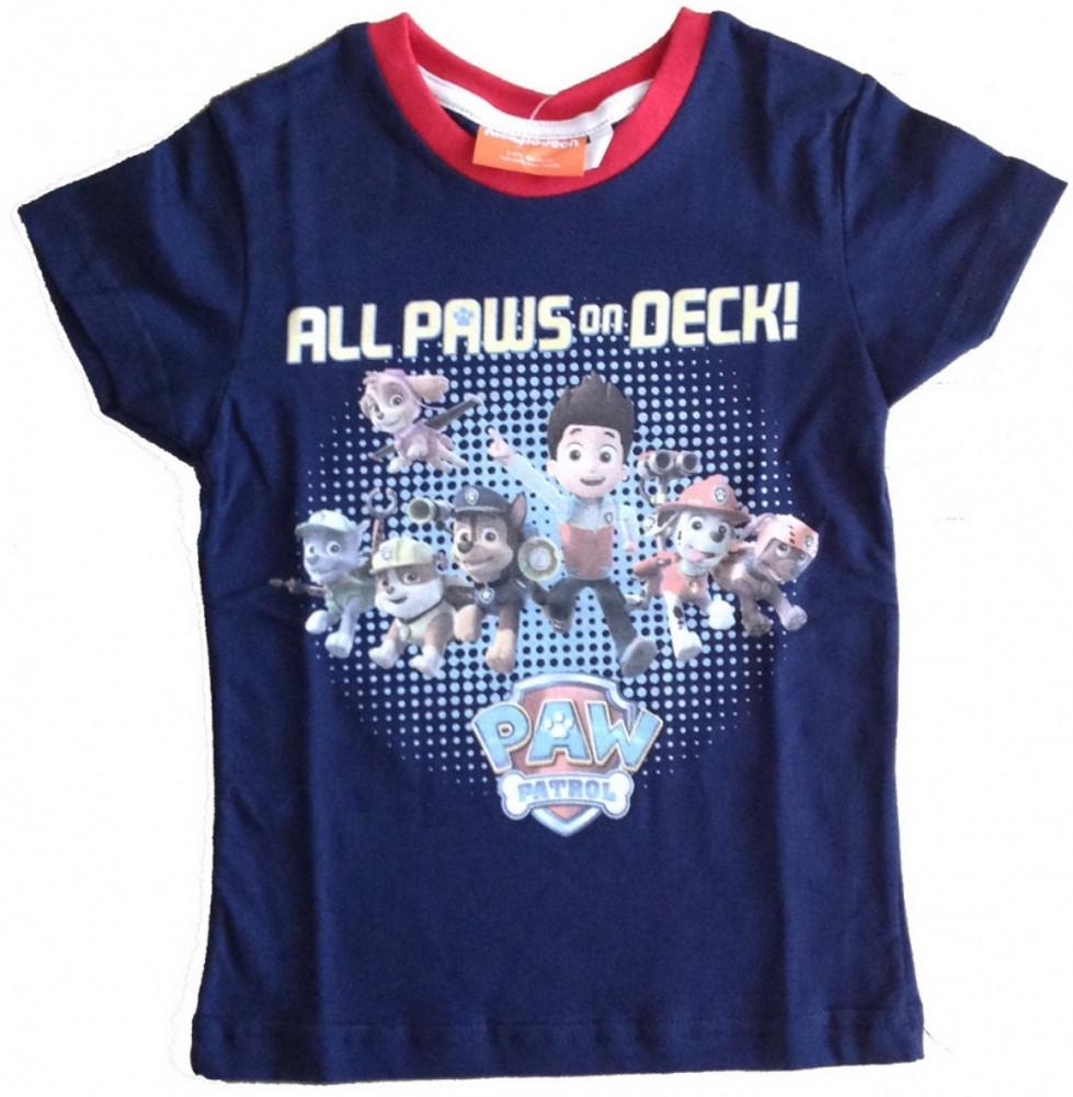 Paw Patrol maglietta T-shirt Manica corta Bambino bimbo 3 4 5 6 anni