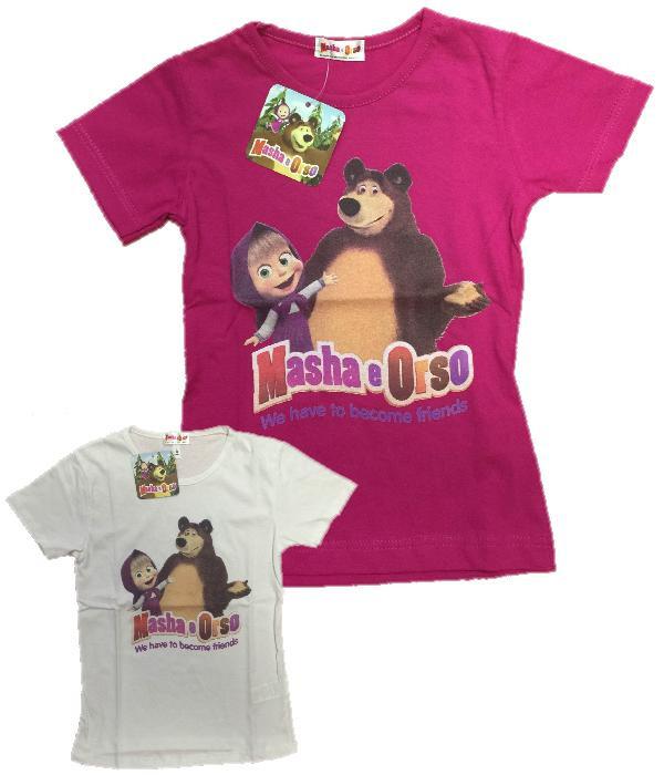 T-shirt Bimba Masha e Orso  23148 Maglietta Manica Corta Bambina ... 4289c5fcbb9