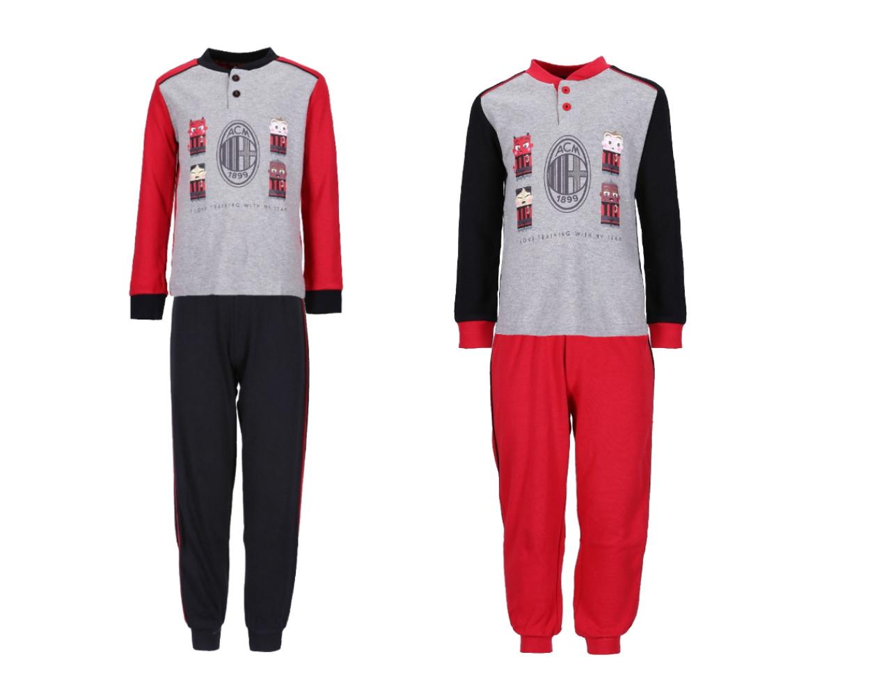 Pigiama Lungo Milan Bambino Abbigliamento Calcio ACM Milan PS 34793
