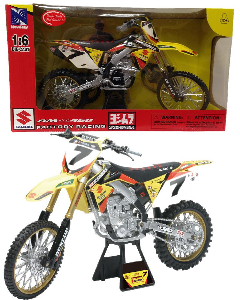 modellini motocross moto da cross suzuki rm z450 james stewart 04743 pelusciamo store. Black Bedroom Furniture Sets. Home Design Ideas