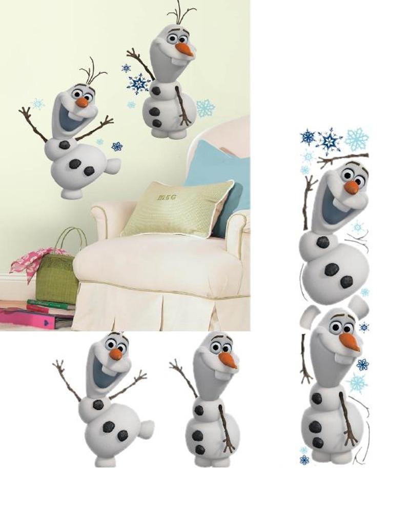 Adesivi da Parete Olaf Frozen 25 pz - Sticker Disney Arredo cameretta ...