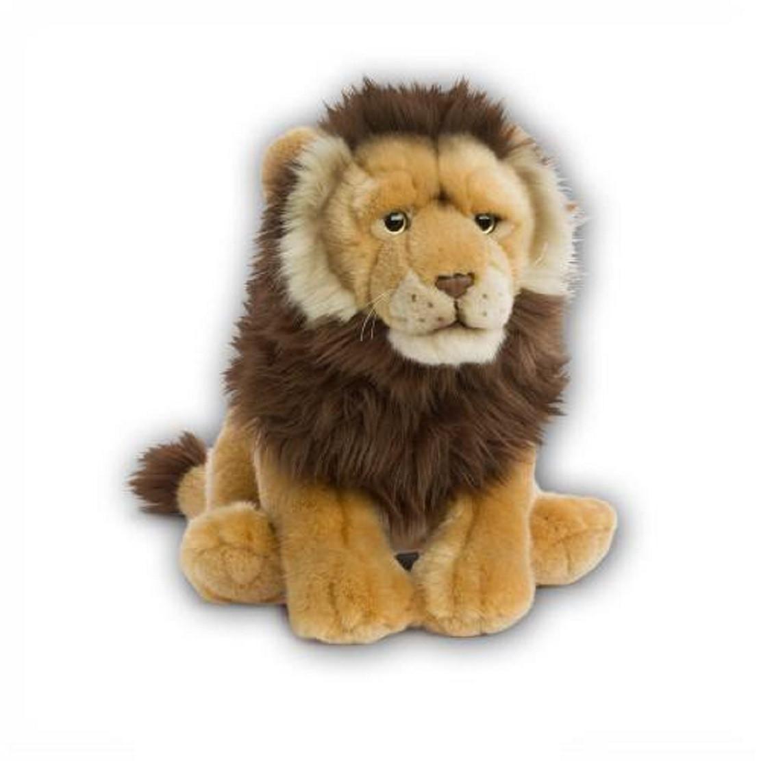 leone peluche  Peluche Leone Seduto 30 Cm Peluches WWF PS 09754 Pelusciamo Store ...