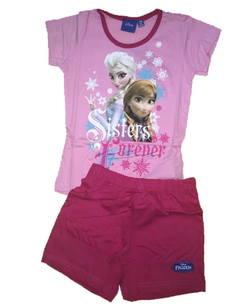 nuova collezione 1bf1a 6d9b9 Pigiama bambina manica corta cotone Disney Frozen *08105
