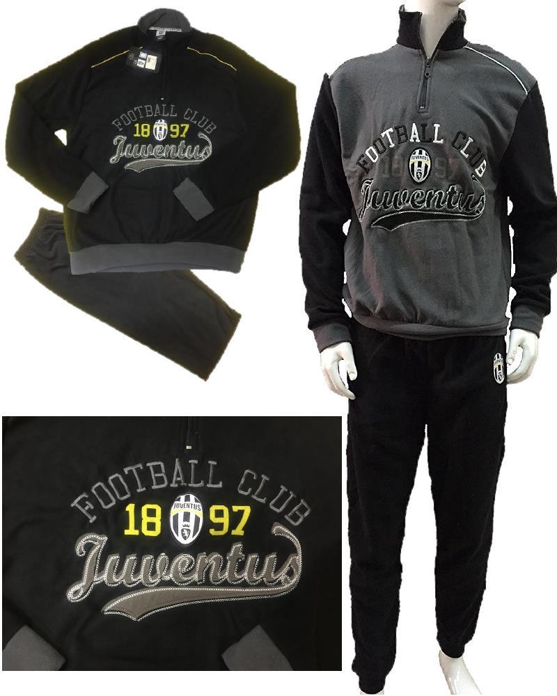 4e9826d2a43d13 Pigiama Juve uomo in pile Abbigliamento Ufficiale Juventus N04746 ...