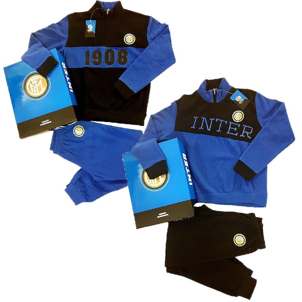 codice promozionale d33a1 52500 Pigiama Inter Calcio Abbigliamento Ufficiale FC Internazionale PS 08490  Caldo Pile