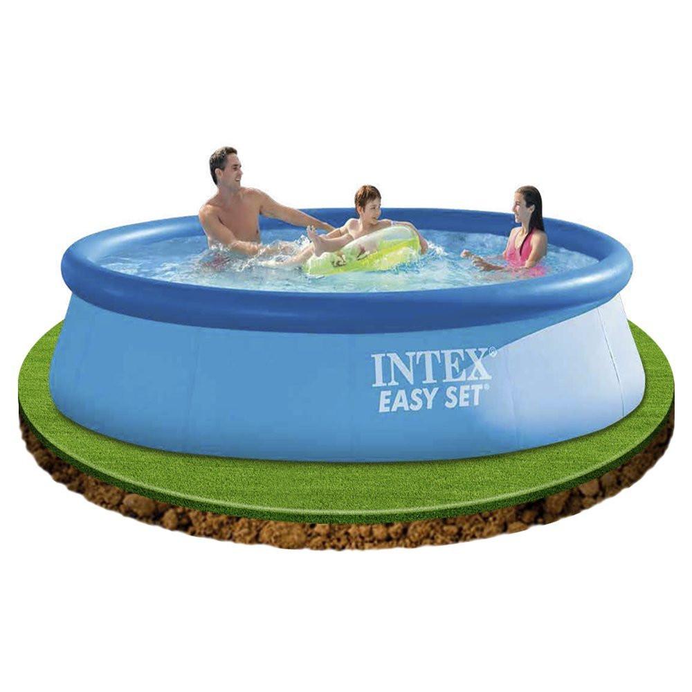 Piscina gonfiabile fuori terra 366x76 cm intex easy set 28132 01529 pelusciamo store - Intex piscina gonfiabile ...